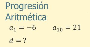 ejemplos de progresiones aritméticas
